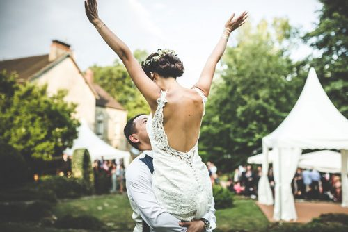 Mariage dans jardin 77